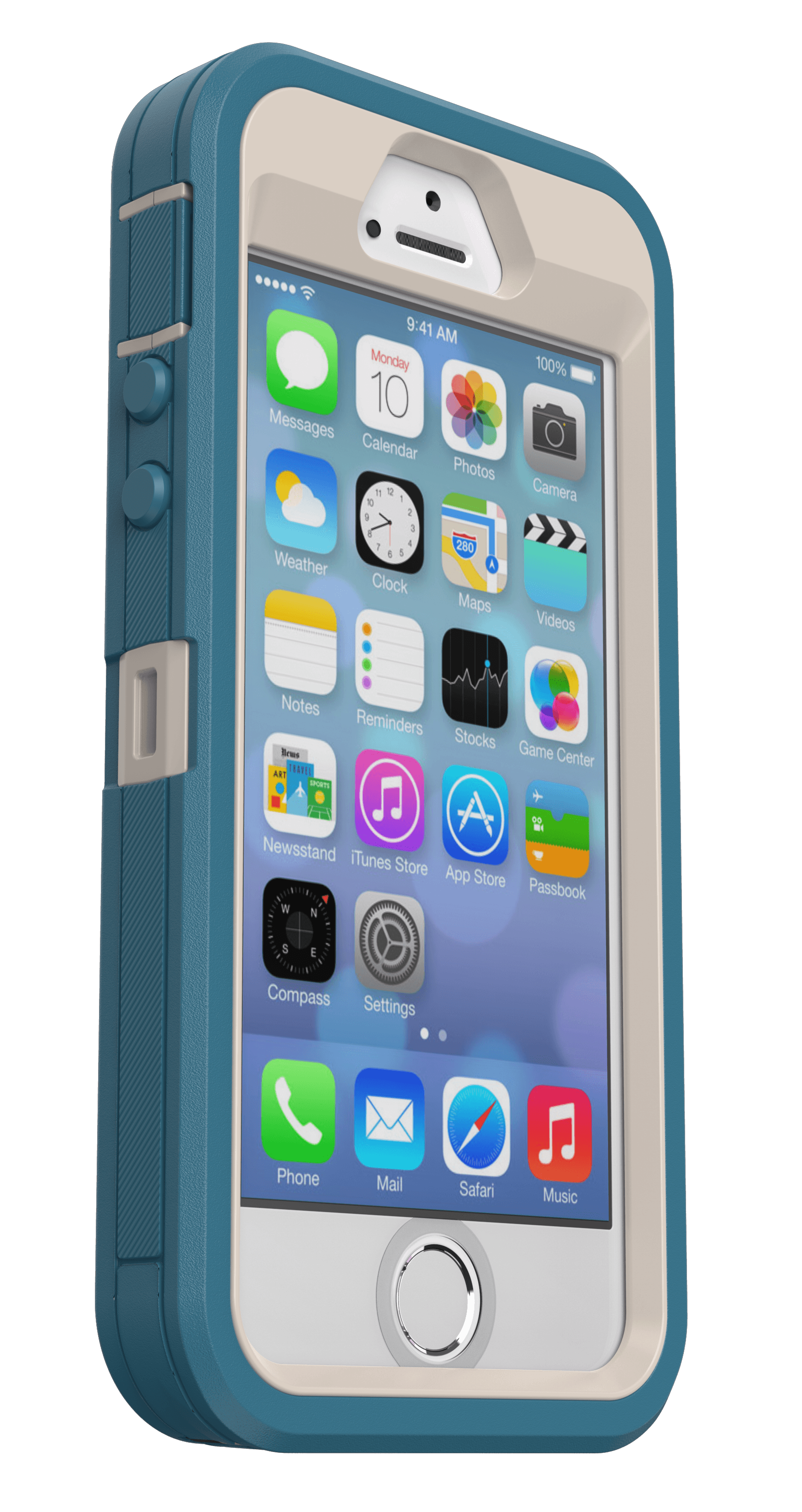 OtterBox Defender Series Pro Phone Case for Apple iPhone 5, iPhone 5S, iPhone SE (1st Gen) Black Sellables