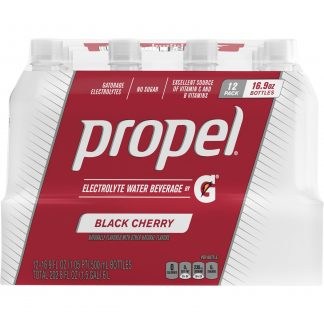 (12 Bottles) Propel Flavored Water with Electrolytes, Cherry, 16.9 fl oz