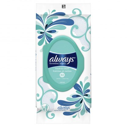 Always Feminine Wipes, Fresh and Clean Scent, 32 count