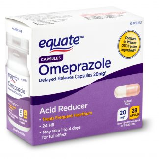 Equate Omeprazole Delayed-Release Capsules, 20 mg, 28 count
