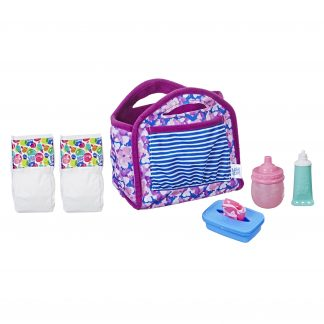 Baby Alive Diaper Bag Set, for Kids Ages 3 and Up, Holds up To 6 Diapers