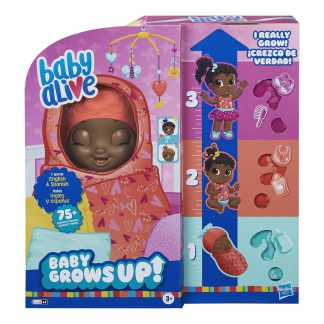 Baby Alive Baby Grows Up Growing and Talking Baby Doll, 1 Surprise Doll, 8 Accessories