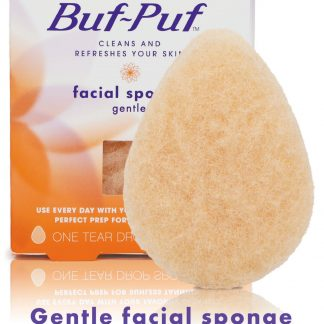 Buf-Puf Gentle Facial Sponge, Non-Irritating, Blackhead Removal, Double-Sided