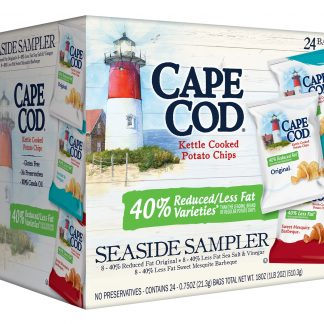 Cape Cod Potato Chips, Reduced Fat Potato Chips Variety Pack 24ct