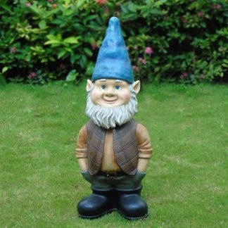 Mainstays 3ft Bobble Head Gnome Resin Outdoor Statuary, 13.2 pounds