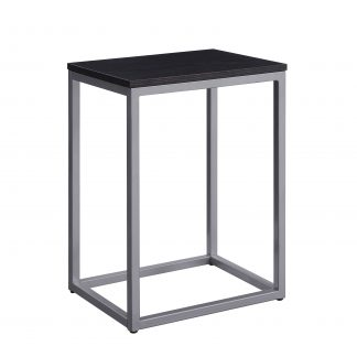 Mainstays End Table, White Top with Gold Frame