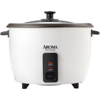 Aroma 32 Cup Dishwasher Safe Pot Style Cooker with Lid, 3 Piece, White