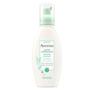 Aveeno Clear Complexion Foaming Facial Cleanser, Oil-Free, 6 fl. oz