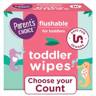 Parent's Choice Flushable Wipes, 6 packs of 48 (288 count)