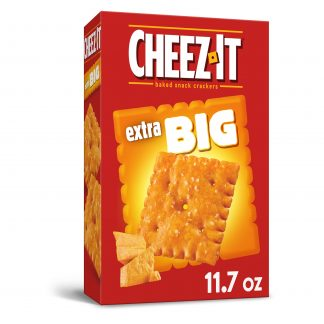 Cheez-It Baked Snack Cheese Crackers, Extra Big, Big Original Cheez-It, 11.7oz