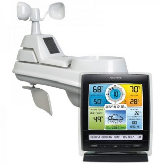 AcuRite Iris (5-in-1) Weather Station with Temperature and Humidity Gauge, Rainfall, Wind Speed and Wind Direction (01512M)