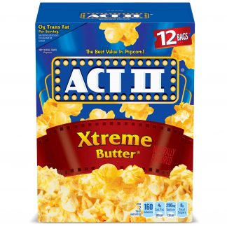 ACT II Xtreme Butter Microwave Popcorn, 2.75 Oz, 12 Count