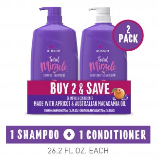 Aussie Total Miracle 7N1 Shampoo and Conditioner Set, 26.2 oz
