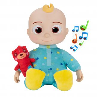 CoComelon Official Plush Bedtime JJ Doll, 10IN with Sound