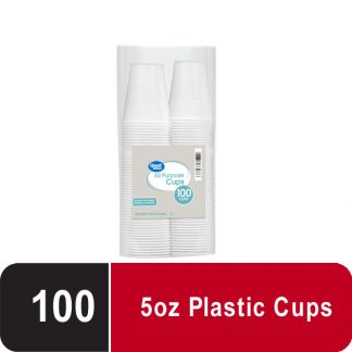 Great Value All Purpose Cups, 5 oz, 100 ct Pack