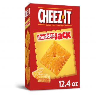 Cheez-It Baked Snack Cheese Crackers, Cheddar Jack, 12.4oz