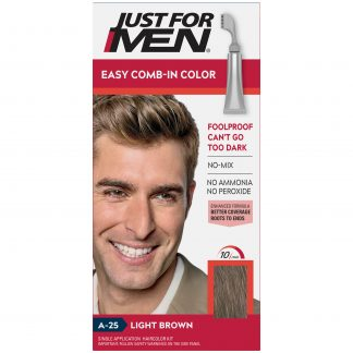 Just For Men Easy Comb-In Color, Gray Hair Coloring for Men with Comb Applicator, Dark Brown, A-45
