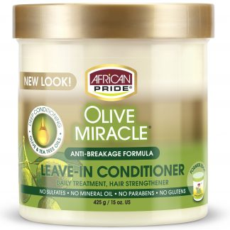 African Pride Olive Miracle Anti-Breakage Leave-In Conditioner, 15oz