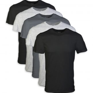 Men's Short Sleeve Crew Assorted Color T-Shirt up to 2XL, 5-Pack