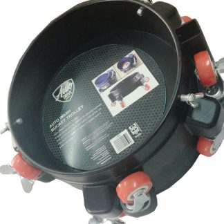 30kgs maximum weight of 12 Inch Auto Drive Car Washing Bucket Trolley Dollies, 360 Degree Turning Removable Rolling Bucket Dolly Easy Push 5 Roll Swivel Casters to Move . Fits Buckets of 3.5-7Gallons