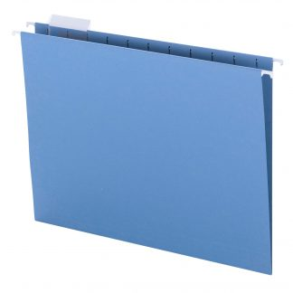Smead Colored Hanging Folders 1/5 Cut Tabs Assorted 25 Per Box Letter