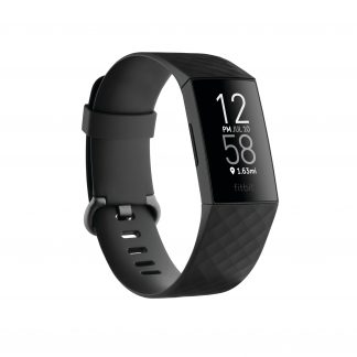 Fitbit Charge 4 (NFC) Activity Tracker, Black/Black