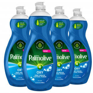 (4 Pack) Palmolive Ultra Oxy Power Degreaser Liquid Dish Soap, 32.5 fl oz