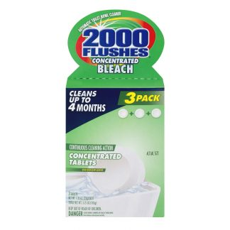 2000 Flushes Concentrated Bleach Automatic Toilet Bowl Cleaner - 3 Pack