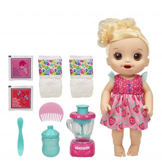 Baby Alive Magical Mixer Baby Doll Strawberry Shake with Blender Drinks, Wets, Eats