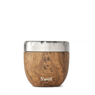 Eats by S'well Vacuum Insulated Stainless Steel Food Storage, Teakwood, 21.5 oz