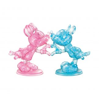 Deluxe Disney 3D Crystal Puzzle - Minnie and Mickey Mouse Heart - 68 Pieces