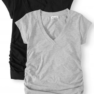 Oh! Mamma Maternity V-neck Tee 2 Pack - Available in Plus Sizes