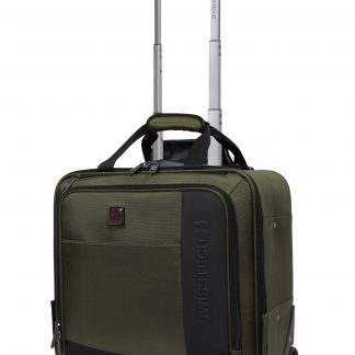 """SwissTech Urban Trek 16.5"""" Under-seater Carry On Luggage, Olive (Sellables Exclusive)"""
