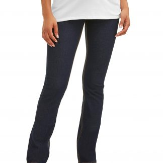 Maternity Oh! Mamma Straight Leg Jeans with Demi Panel (Available in Plus Sizes)