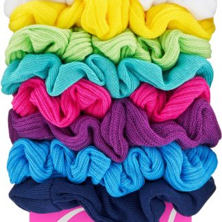 Goody Ouchless Scrunchies, Gentle Hair Scrunchies, Neon Lights, 8 Ct