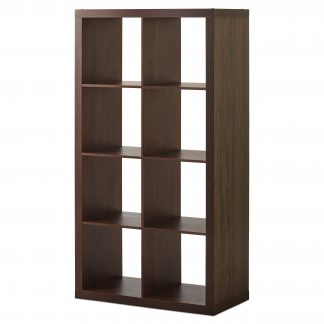 Better Homes & Gardens 8 Cubby Storage Shelf for Adults, Brown Wood
