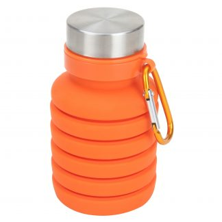 Ozark Trail 16 oz Orange Silicone Water Bottle With Wide Mouth