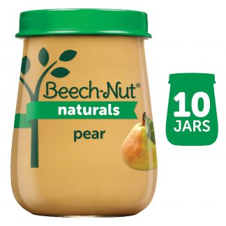 (10 Pack) Beech-Nut Naturals Stage 1, Pear Baby Food, 4 oz Jar