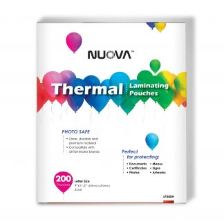 """""""Nuova Premium Thermal Laminating Pouches, 9"""""""" x 11.5"""""""", 3 mil, 200-Pack"""""""