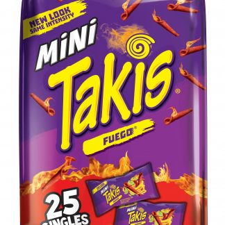TAKIS Rolled Mini Fuego Tortilla Chips Bag of 25 count