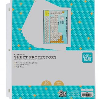 Pen+Gear Standard Sheet Protectors 50 Sheets, 8.5-inches x 11-inches