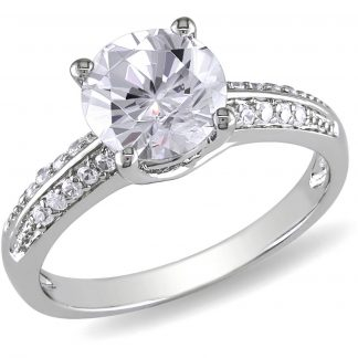 Miabella 3.45 Carat T.G.W. Cubic Zirconia Sterling Silver Engagement Ring