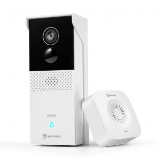 Heimvision Video Doorbell, Smart Wifi Security Camera Battery-Powered,Motion Activated Alerts, 1080P Wider View, 2-Way Audio, Weatherproof