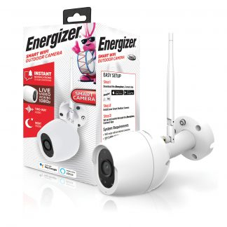 Energizer Connect EOX1-1002-WHT Smart 1080p Outdoor Camera With Camera Streaming (White)