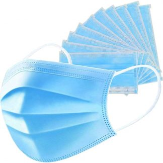 25 unit Disposable Face Masks 3 Ply Non-Woven Fabric Soft & Comfortable Safety Cover Guard against unseen airborne substances, Pollen, Smoke, Air Pollution with Free Resealable Bag