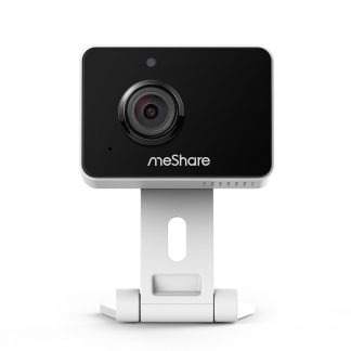 meShare 1080p Mini Wireless Two-way Audio Camera with Free 1-Month Cloud Service Plan and Cloud AI Security-Works with Google Assistant