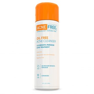 AcneFree Oil Free Acne Cleanser with 2.5% Benzoyl Peroxide, 8 oz