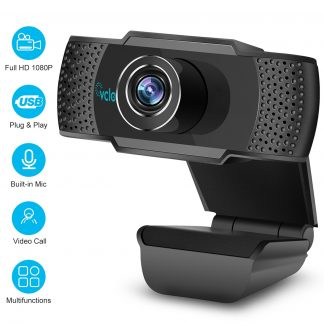 1080P HD Webcam with Microphone, Webcam for Gaming Conferencing, Laptop or Desktop Webcam, USB Computer Camera for Mac Xbox YouTube Skype OBS, Fast Autofocus
