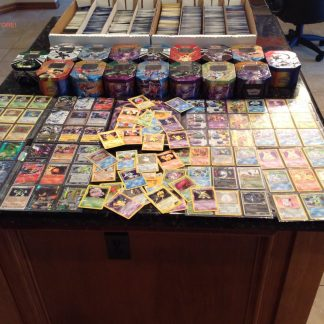150 Assorted Pokemon Cards with Collectible Tin in Multicolor