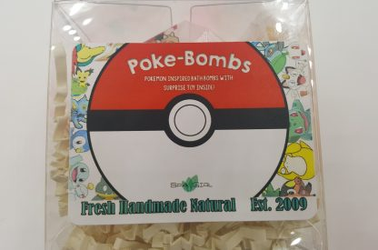 Spa Pure Kids Poke-Bomb Bath Bomb with Pokemon Toy Inside, USA Made, Natural, Large 5 oz, Gift For Girl/Boy, Colorful, Moisturizing Bath Bomb That will Not Stain Your Tub
